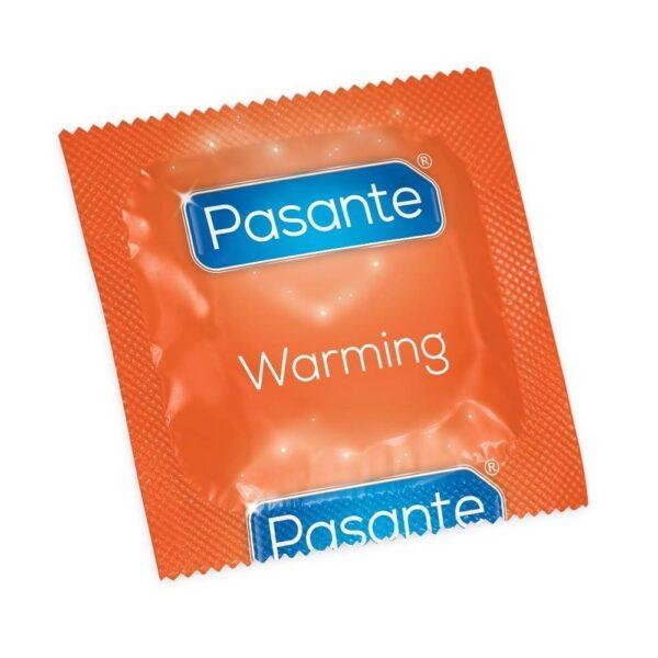 Pasante Warming sensation kondom - 1 stk.