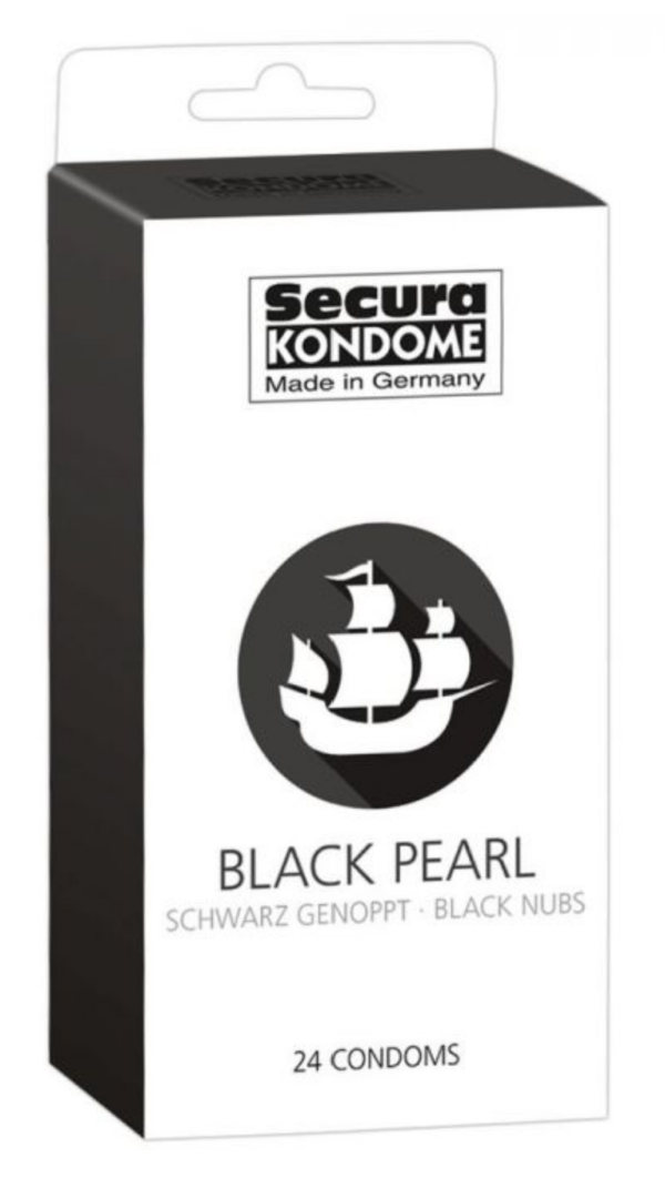 Secura Black Pearl Kondomer - 24 stk