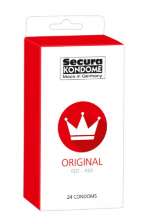 Secura Original Rød Kondomer - 24 stk.